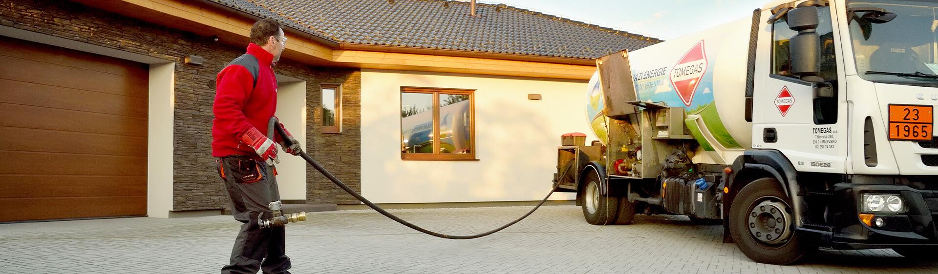 Zásobování plynem Tomegas